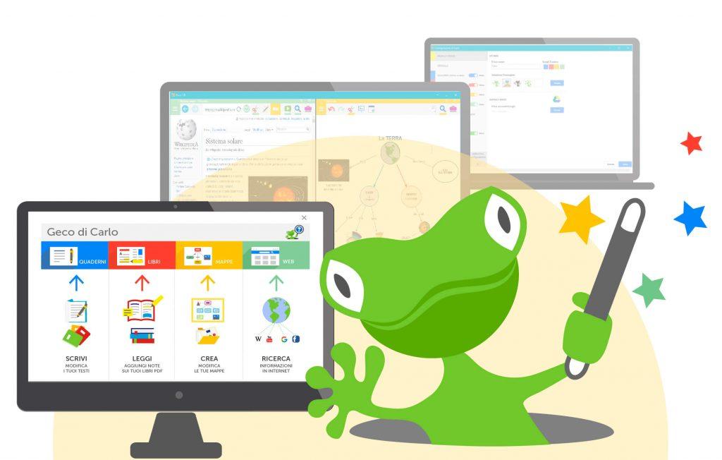 io studio con GECO software per studio e apprendimento